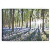 Art for the Home - Canvas Schilderij - Bloem - Groen/Paars - 70x100 cm