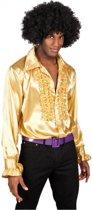 Voordelige gouden rouches blouse M
