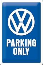 VW Parking Only Metalen Wandbord 20x30 cm