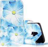 Let op type!! Voor Galaxy S9 + orchidee patroon horizontale Flip lederen draagtas met houder & kaartsleuven & portemonnee