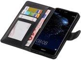 | Huawei P10 Lite Portemonnee hoesje booktype wallet case Zwart | WN™