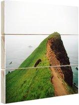 Gods Thumb kliff Amerika Hout 80x60 cm - Foto print op Hout (Wanddecoratie)