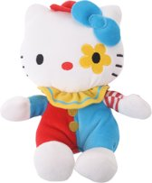 Jemini Knuffel Hello Kitty Clown 17 Cm Lichtblauw/rood