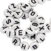 Acryl Letterkralen mix (7 x 3 mm) White (400 stuks)
