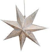 kerstster papier wit zilver 7 punten 45cm