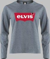 Longsleeve V Elvis naar Levi's - Zandgrijs - V - XS Sportshirt