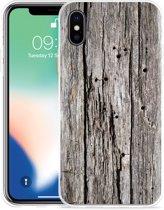 Apple iPhone X Hoesje Oud hout