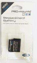 PRO-mounts GoPro Hero5, 6 & 7 batterij + GRATIS Rugzak