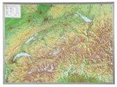 Schweiz 1 : 500 000 mit Aluminium Rahmen