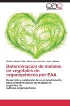 Determinacion de Metales En Vegetales de Organoponicos Por Eaa