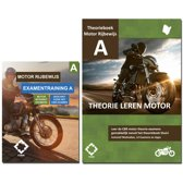 Rijbewijs A Motor Theorieboek + 22 uur online theorie examens 2019