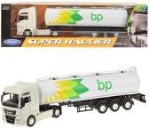 BP tankwagen met witte cabine WELLY 1:64