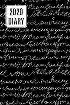 2020 Daily Diary Journal, Scribbly Handwriting