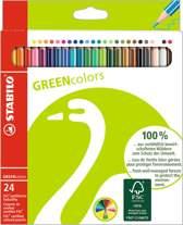 STABILO GREENcolors Kleurpotloden - Etui 24 stuks