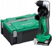 Hitachi DN14DSL(LE) 14,4 Volt Haakse Boor-/Schroefmachine met 2 accu's 2.5Ah in HSCII Systeemkoffer