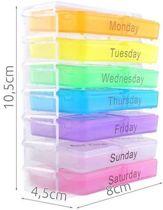 Pillendoos 7 dagen - Weekbox - Pillendoosje - Medicijn bakje - 7 x 4 x 1cm