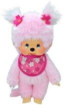 Monchichi Meisje Cherry Blossom Roze
