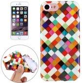 iPhone 7 / iPhone 8 (4.7 Inch) - hoes, cover, case - TPU - Gekleurde blokjes