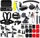 Universele 24 in 1 GoPro Accessoires Set met Luxe Case , Stick , Chest mount en veel meer voor GoPro Hero 3 4 5 6 en andere Action cams