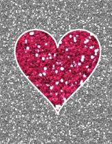 Glitter Heart Notebook - 5x5 Graph Paper