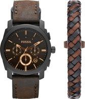 Fossil Zwart Mannen Horloge FS5251SET