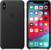 Apple Lederen Back Cover voor iPhone XS Max - Zwart