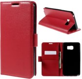Litchi Cover wallet case hoesje Samsung Galaxy Note 5 rood