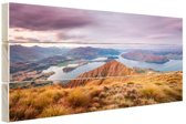 Bergen en meren Hout 30x20 cm - klein - Foto print op Hout (Wanddecoratie)