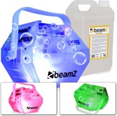 Bellenblaasmachine - BeamZ B500 LED - Transparante bellenblaasmachine met LED's en 5 liter bellenblaasvloeistof