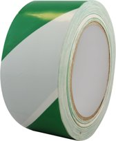 Vloermarkeringstape 5cm (Groen/Wit)