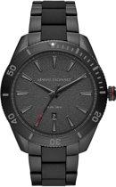 Armani Exchange horloge  - Zwart