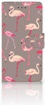Huawei Y5 2018 Uniek Boekhoesje Flamingo