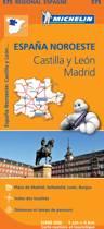 CASTILLA Y LEON, MADRID 11575 CARTE ' REGIONAL ' MICHELIN KAART