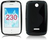 Image of Nokia Asha 230 Silicon Hoesje - S-Line Black (8719321163241)