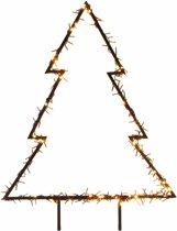 Verlichte kerstboom voor in de tuin 75 cm - 175 LED lampjes