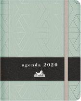 Hobbit agenda organizer medium D3 blauw lederlook jaaragenda 2020 met een verborgen spiraal (formaat