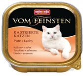 Animonda Vom Feinsten gecastreerde kat - kalkoen zalm - 32x100 gr.