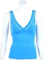 Nike Smash Classic Tank - Sporttop -  Dames - Maat XS - Intens Blauw;Wit