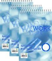 Schrijfblok spiraal lijn A5 - 70-grams - 100 vel - 5 stuks