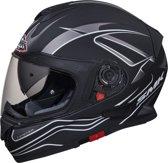 SMK Twister Splash Mat Helm Zwart