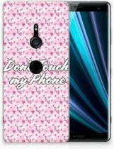 Sony Xperia XZ3 Uniek TPU Hoesje Flowers Pink DTMP
