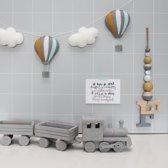 Slinger Luchtballonnen Grijs - Okergeel