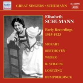 Elisabeth Schumann: Early Rec.