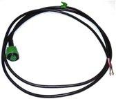 Connector Groen met kabel 2mtr.
