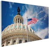 Capitool detailfoto Washington DC Glas 60x40 cm - Foto print op Glas (Plexiglas wanddecoratie)