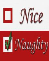 Nice Naughty Santa Claus Christmas List School Comp Book 130 Pages