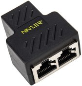 Ninzer RJ45 Splitter 1 naar 2 Netwerk Adapter