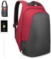 Tigernu Trendy - laptop rugzak - anti diefstal - 12,5 tot 15,6 inch - rood
