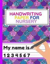Handwriting Paper for Nursery