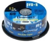Intenso DVD+R 8.5GB 8x Double Layer 25er Cakebox 8.5GB DVD+R 25stuk(s)